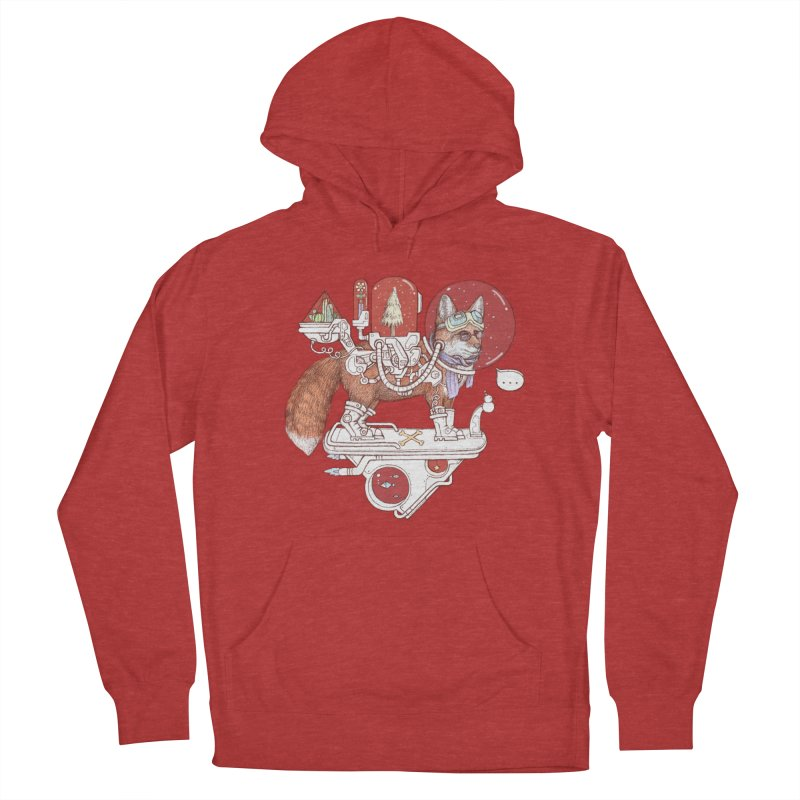 fox space suit Men's French Terry Pullover Hoody by makapa's Artist Shop