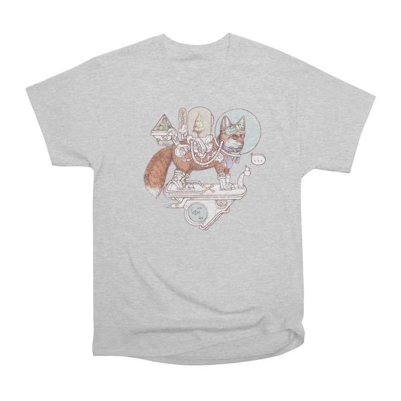 fox space suit Men's Heavyweight T-Shirt by makapa's Artist Shop