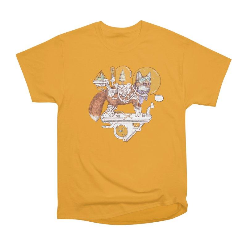 fox space suit Women's Heavyweight Unisex T-Shirt by makapa's Artist Shop