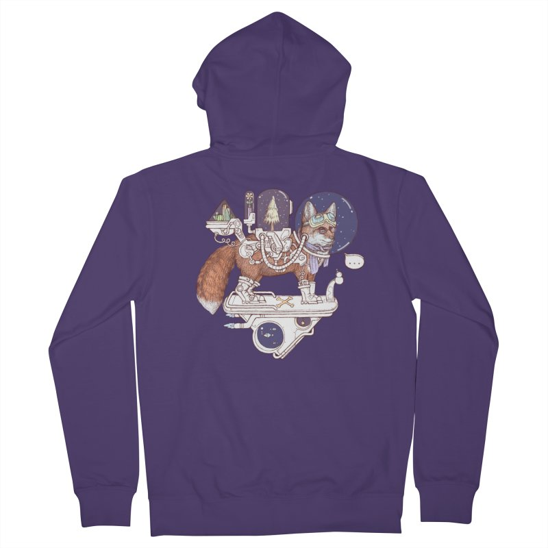 fox space suit Women's French Terry Zip-Up Hoody by makapa's Artist Shop
