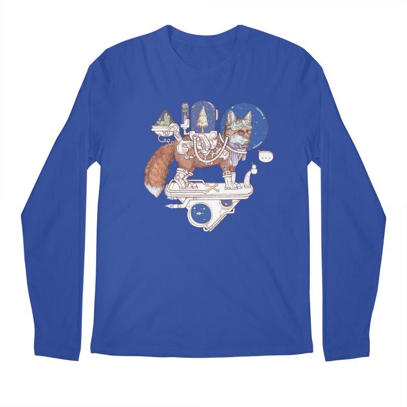 fox space suit Men's Regular Longsleeve T-Shirt by makapa's Artist Shop