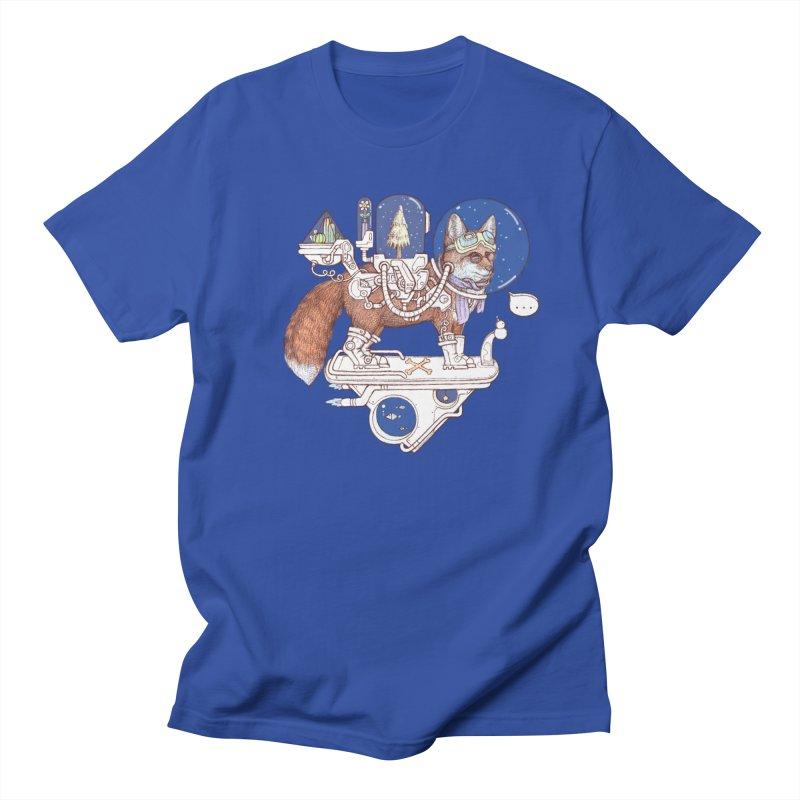 fox space suit Men's Regular T-Shirt by makapa's Artist Shop
