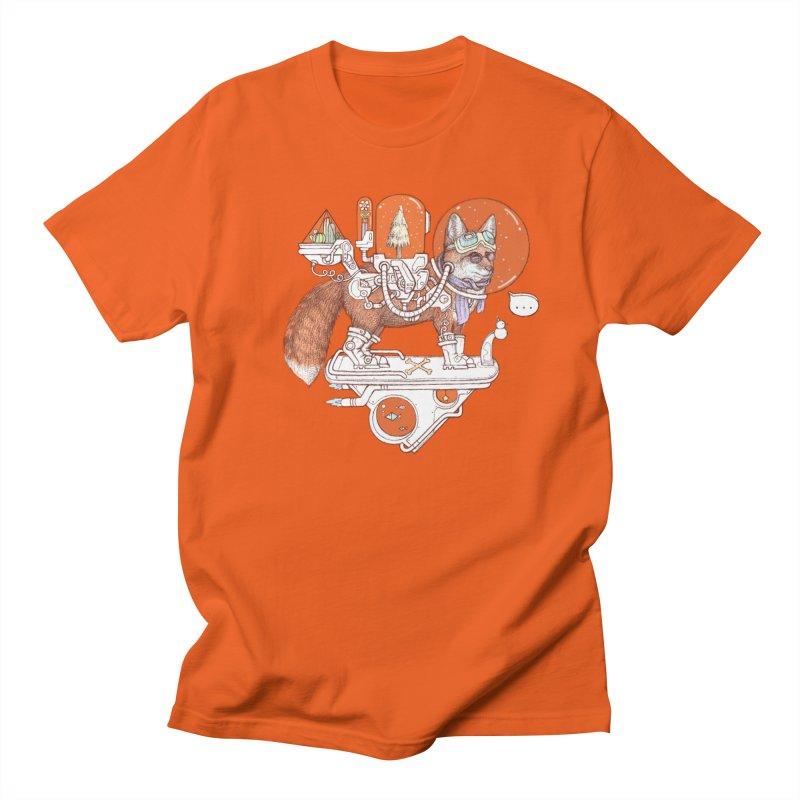 fox space suit Women's Regular Unisex T-Shirt by makapa's Artist Shop