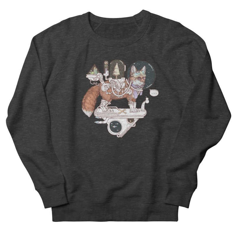 fox space suit Women's French Terry Sweatshirt by makapa's Artist Shop