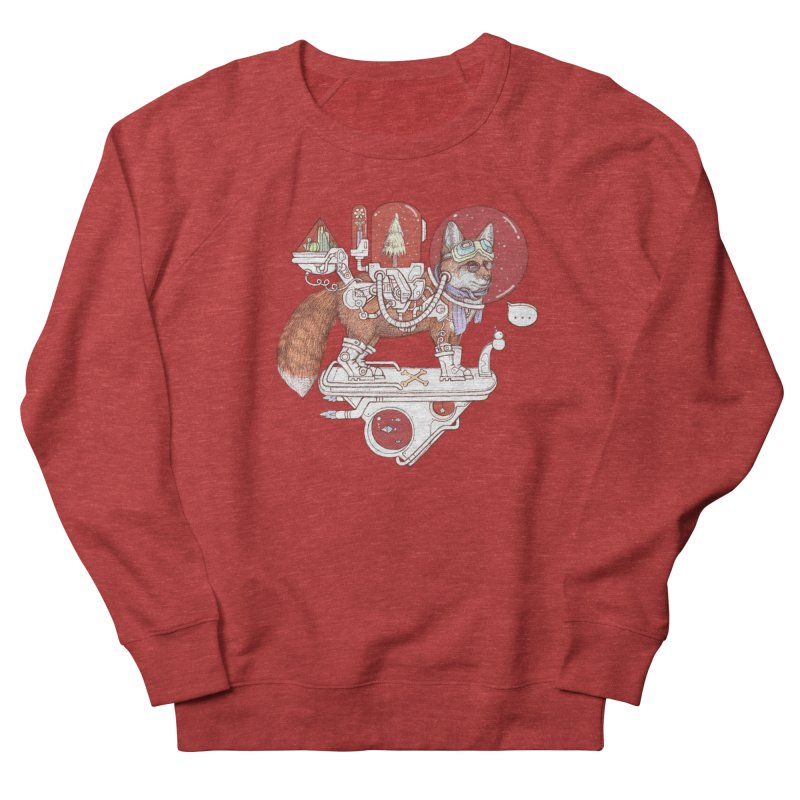 fox space suit Women's French Terry Sweatshirt by makapa's Artist Shop