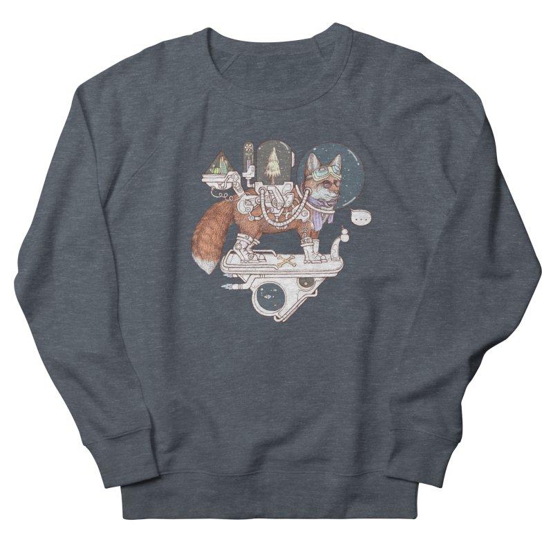 fox space suit Men's French Terry Sweatshirt by makapa's Artist Shop