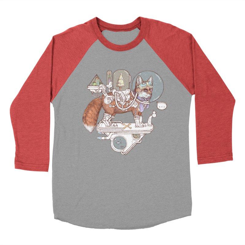 fox space suit Men's Baseball Triblend Longsleeve T-Shirt by makapa's Artist Shop