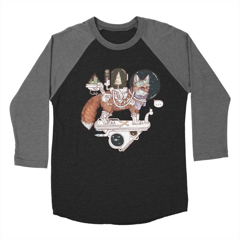 fox space suit Men's Baseball Triblend Longsleeve T-Shirt by makapa's Artist Shop