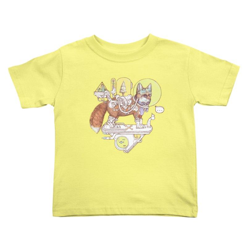 fox space suit Kids Toddler T-Shirt by makapa's Artist Shop