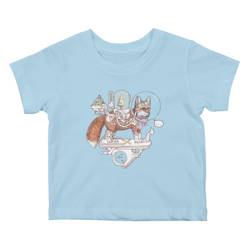 fox space suit Kids Baby T-Shirt by makapa's Artist Shop