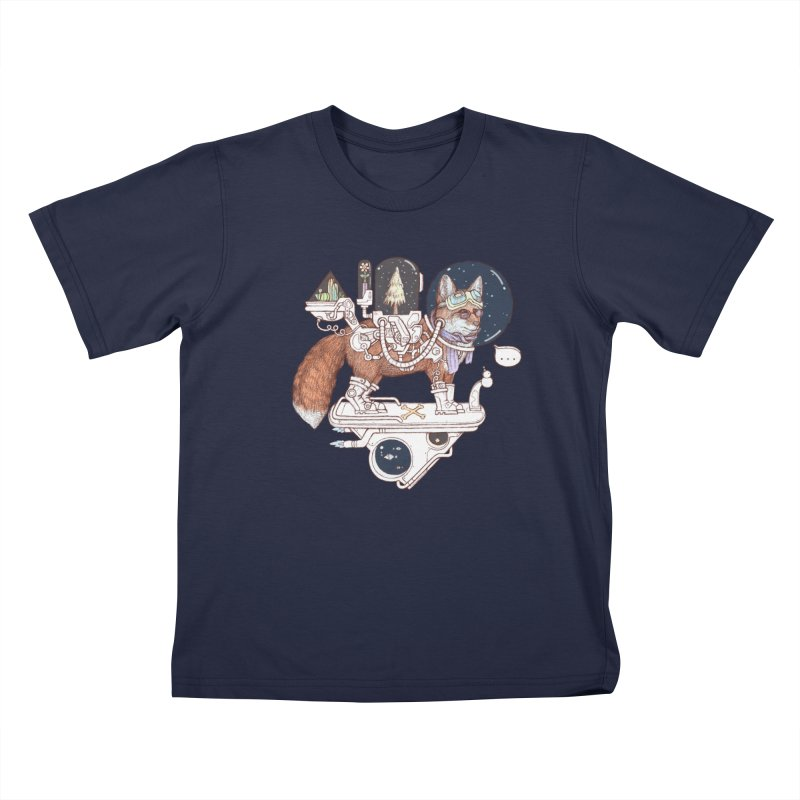 fox space suit Kids T-Shirt by makapa's Artist Shop