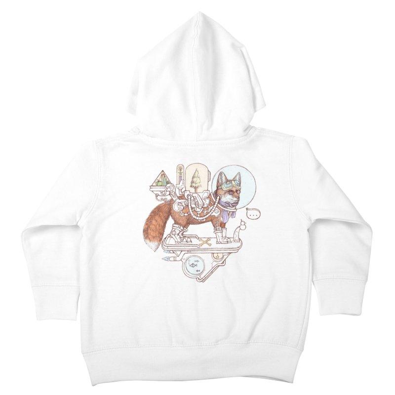 fox space suit Kids Toddler Zip-Up Hoody by makapa's Artist Shop