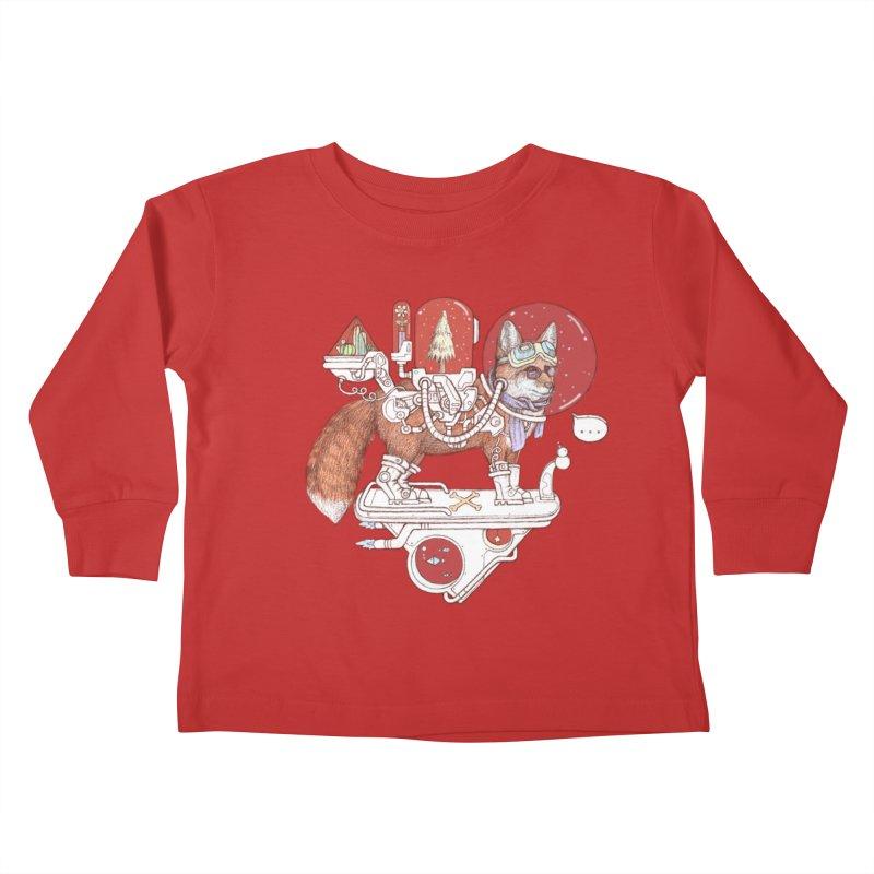 fox space suit Kids Toddler Longsleeve T-Shirt by makapa's Artist Shop