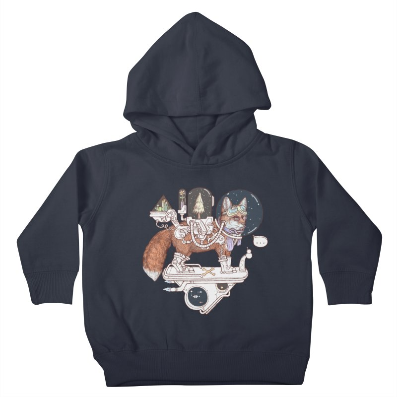fox space suit Kids Toddler Pullover Hoody by makapa's Artist Shop