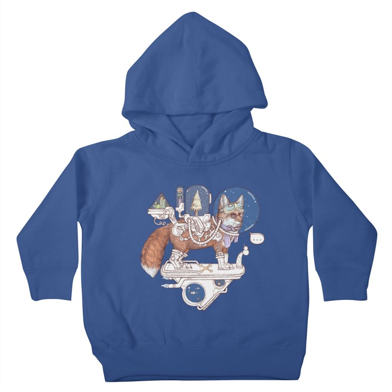 fox space suit Kids Toddler Pullover Hoody by makapa's Artist Shop