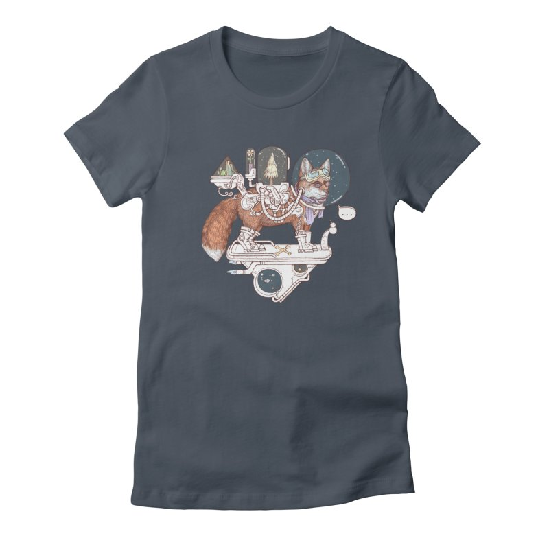 fox space suit Women's T-Shirt by makapa's Artist Shop