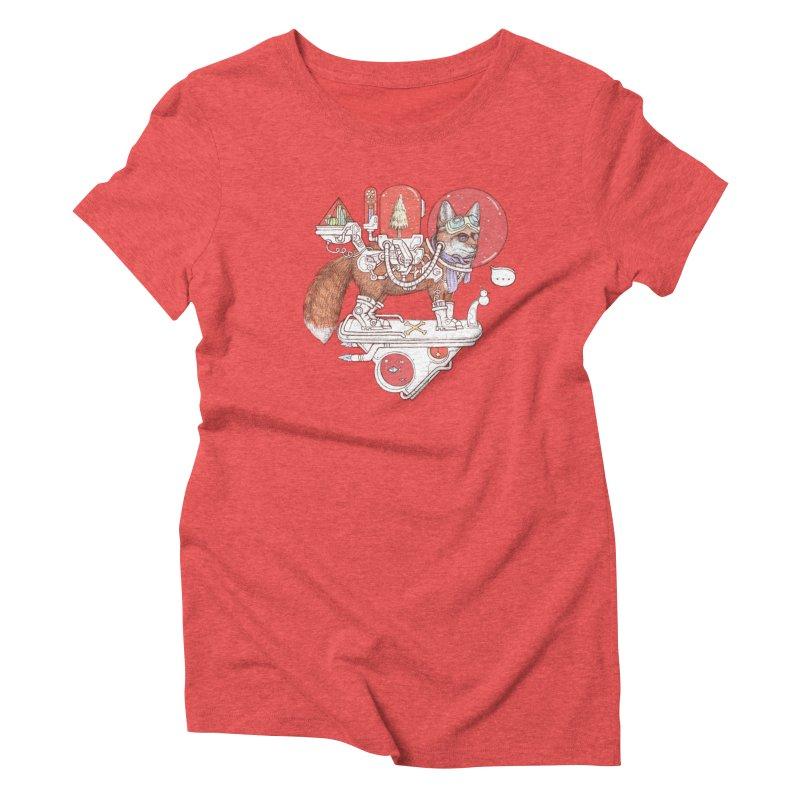 fox space suit Women's Triblend T-Shirt by makapa's Artist Shop