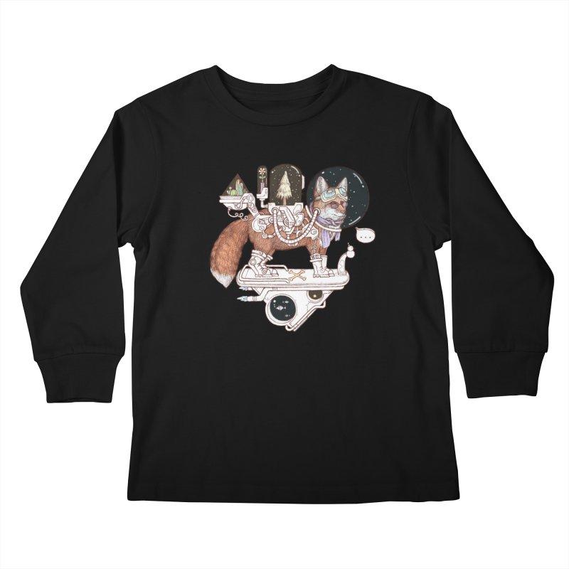 fox space suit Kids Longsleeve T-Shirt by makapa's Artist Shop