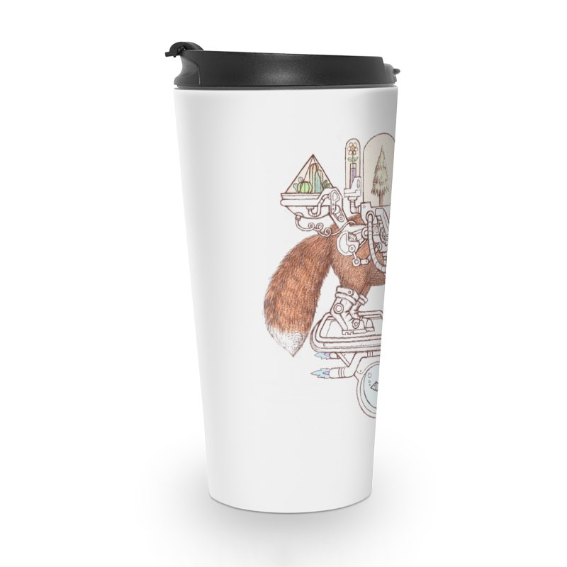 fox space suit Accessories Travel Mug by makapa's Artist Shop