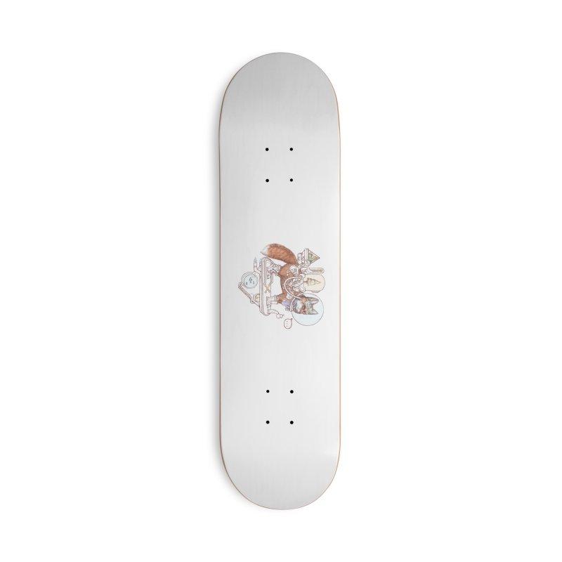 fox space suit Accessories Skateboard by makapa's Artist Shop