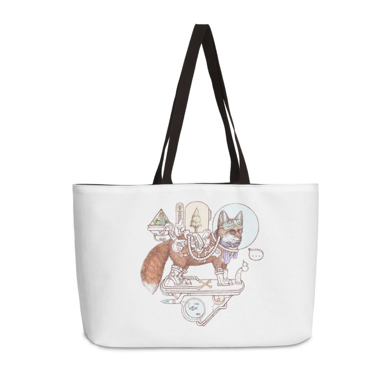 fox space suit Accessories Weekender Bag Bag by makapa's Artist Shop