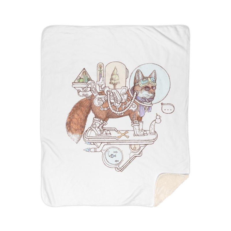 fox space suit Home Sherpa Blanket Blanket by makapa's Artist Shop