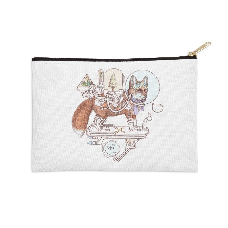 fox space suit Accessories Zip Pouch by makapa's Artist Shop