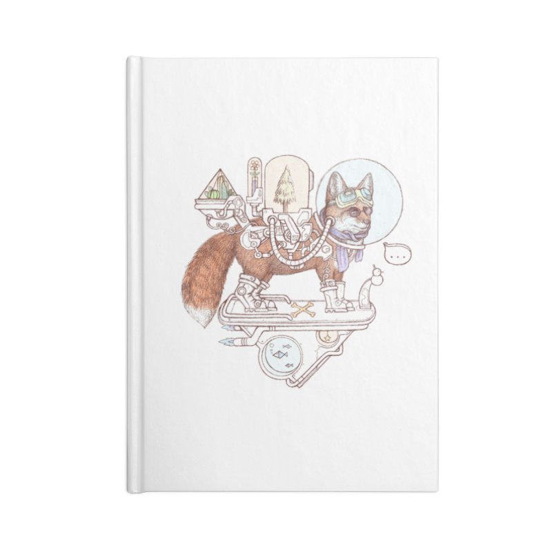 fox space suit Accessories Lined Journal Notebook by makapa's Artist Shop