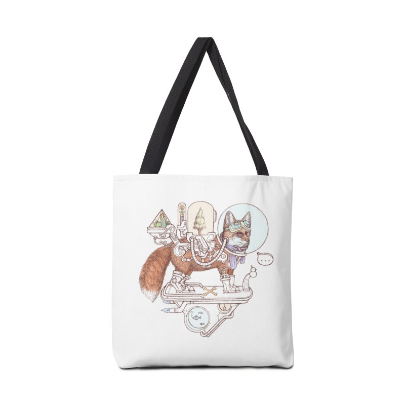 fox space suit Accessories Tote Bag Bag by makapa's Artist Shop