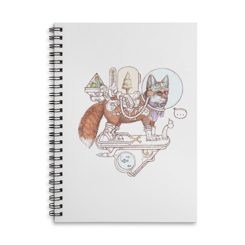fox space suit Accessories Lined Spiral Notebook by makapa's Artist Shop
