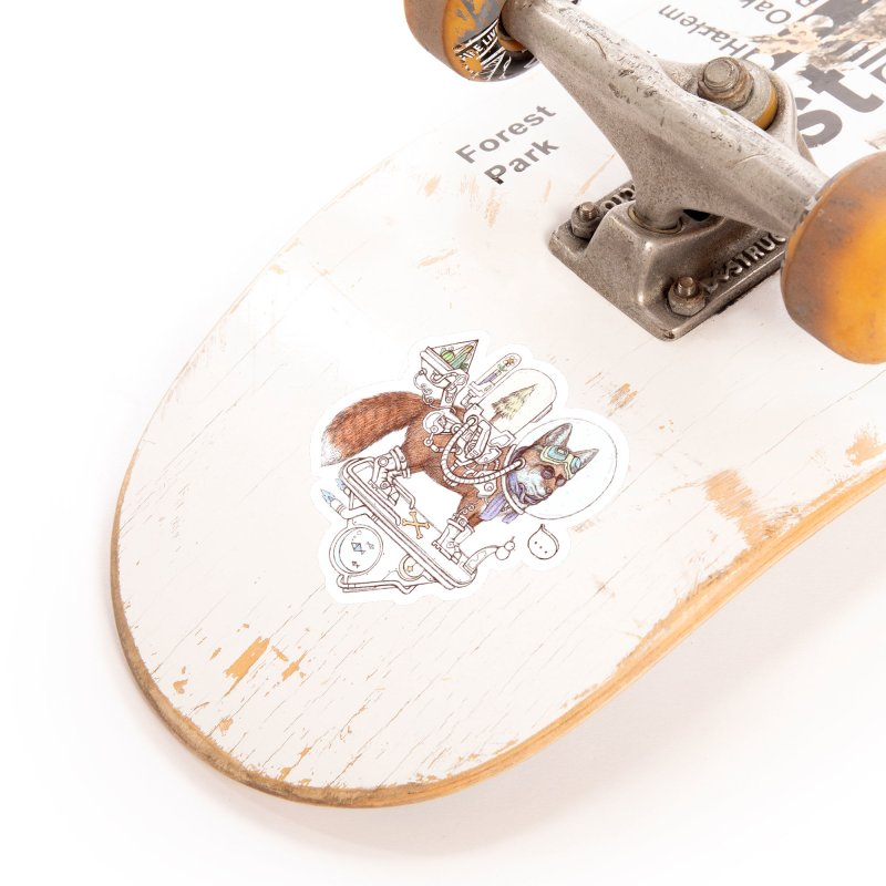 fox space suit Accessories Sticker by makapa's Artist Shop