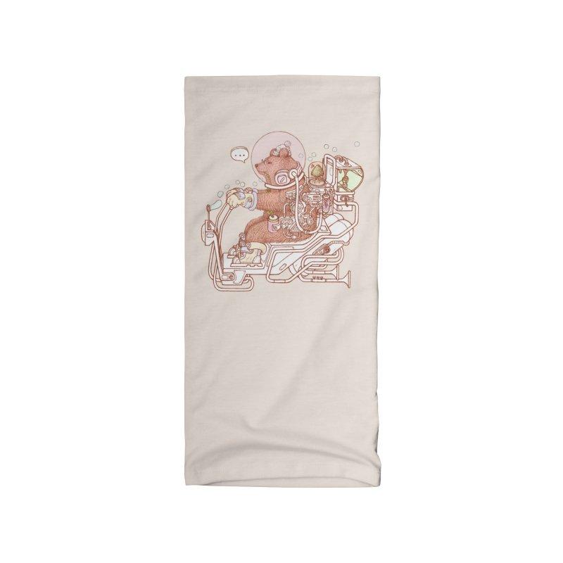 bear space suit Accessories Neck Gaiter by makapa's Artist Shop