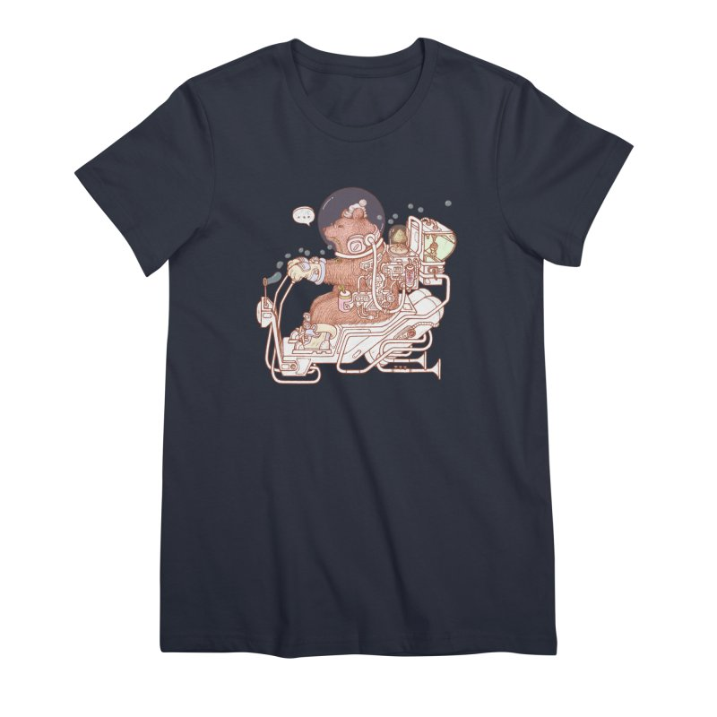 bear space suit Women's Premium T-Shirt by makapa's Artist Shop