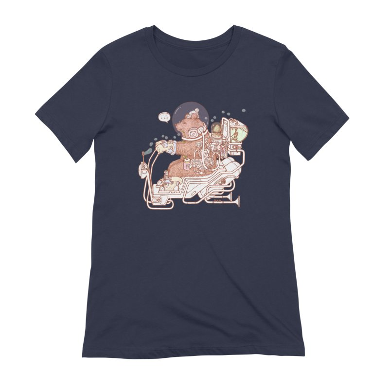 bear space suit Women's Extra Soft T-Shirt by makapa's Artist Shop
