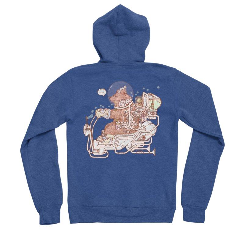 bear space suit Women's Sponge Fleece Zip-Up Hoody by makapa's Artist Shop