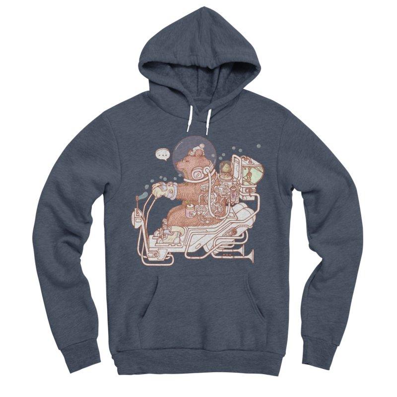 bear space suit Women's Sponge Fleece Pullover Hoody by makapa's Artist Shop