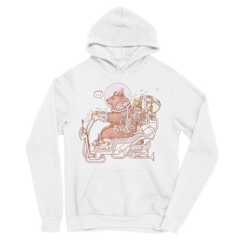 bear space suit Men's Sponge Fleece Pullover Hoody by makapa's Artist Shop