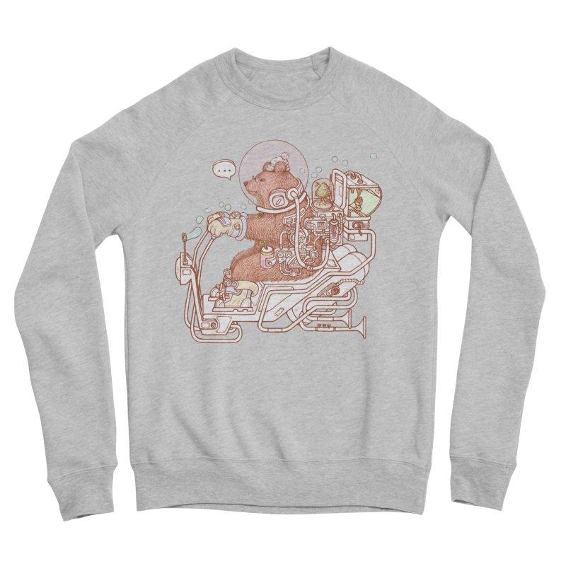 bear space suit Women's Sponge Fleece Sweatshirt by makapa's Artist Shop