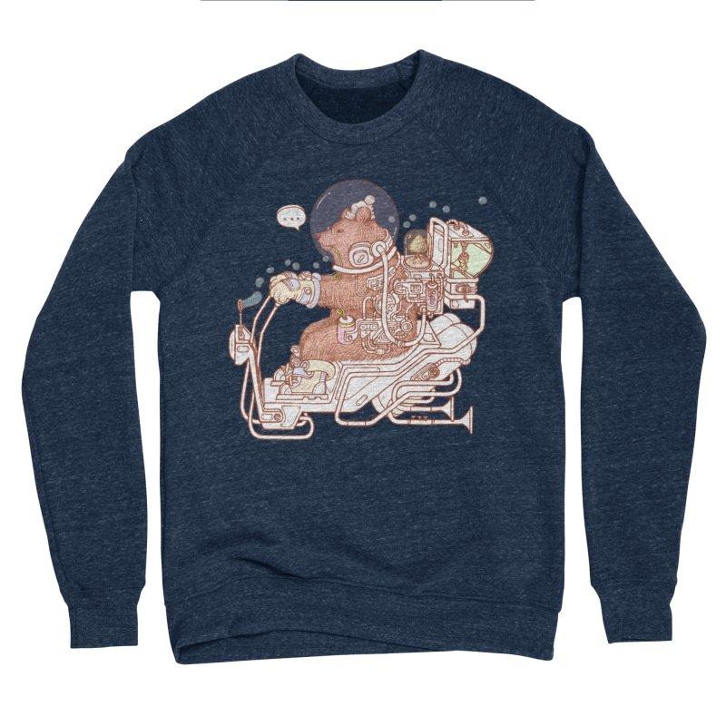 bear space suit Men's Sponge Fleece Sweatshirt by makapa's Artist Shop
