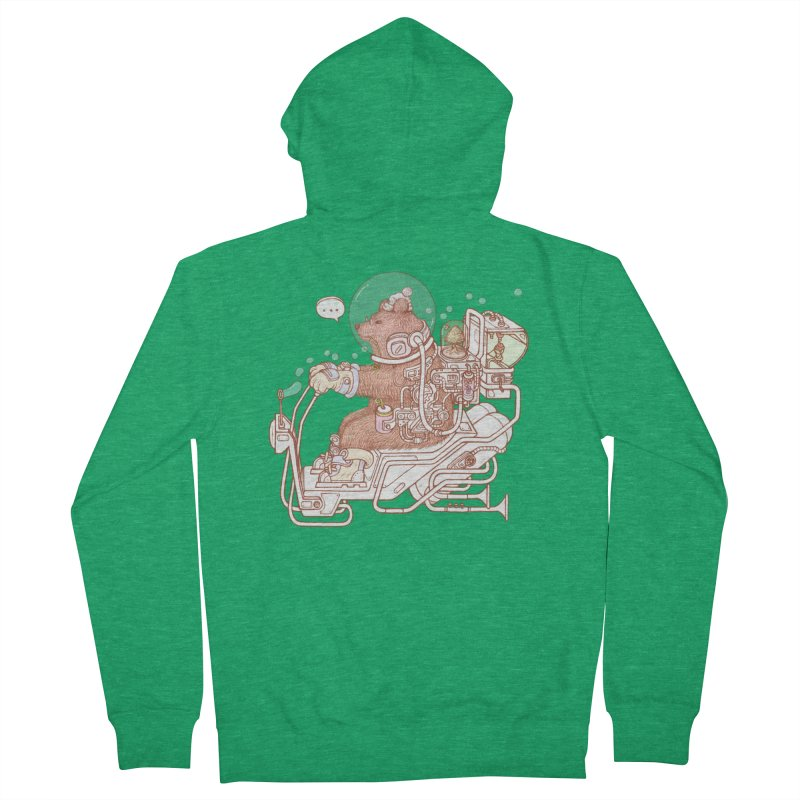 bear space suit Men's Zip-Up Hoody by makapa's Artist Shop