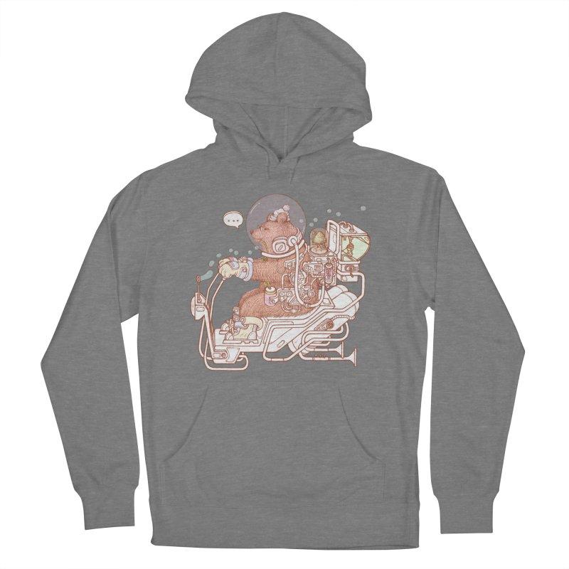 bear space suit Women's Pullover Hoody by makapa's Artist Shop