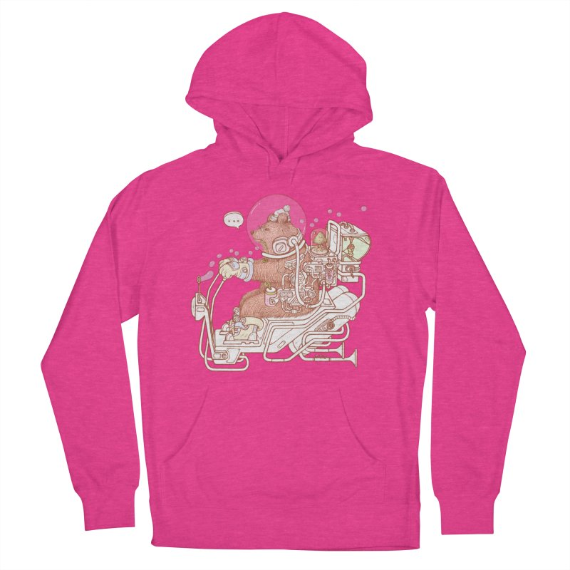 bear space suit Women's French Terry Pullover Hoody by makapa's Artist Shop