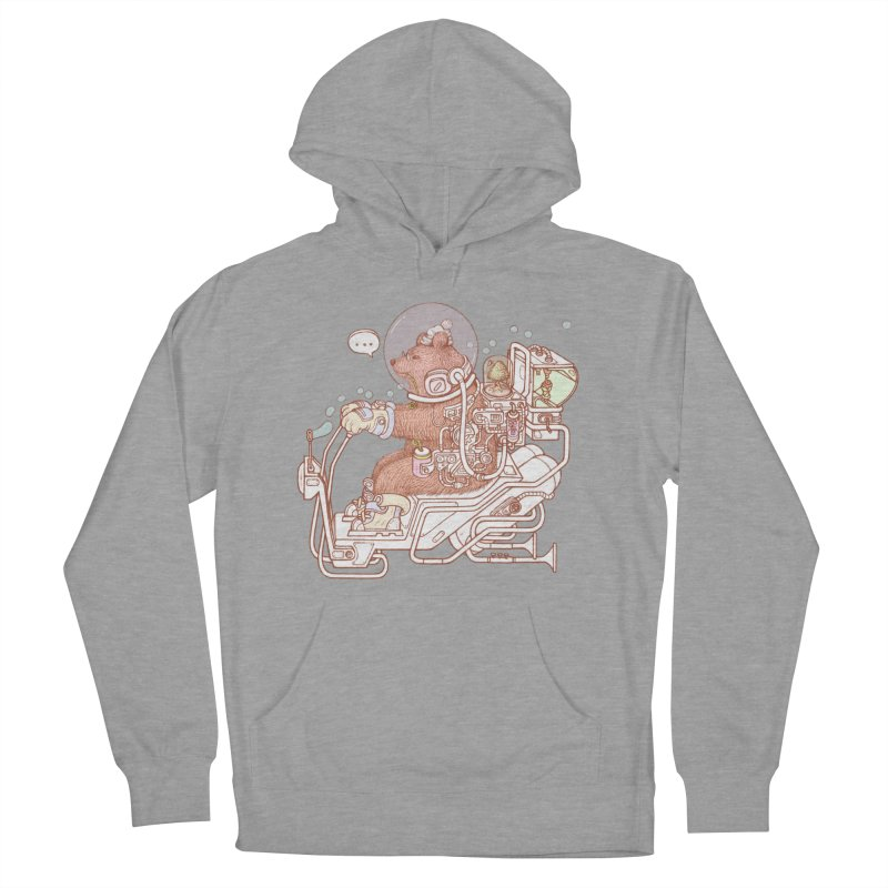 bear space suit Men's French Terry Pullover Hoody by makapa's Artist Shop