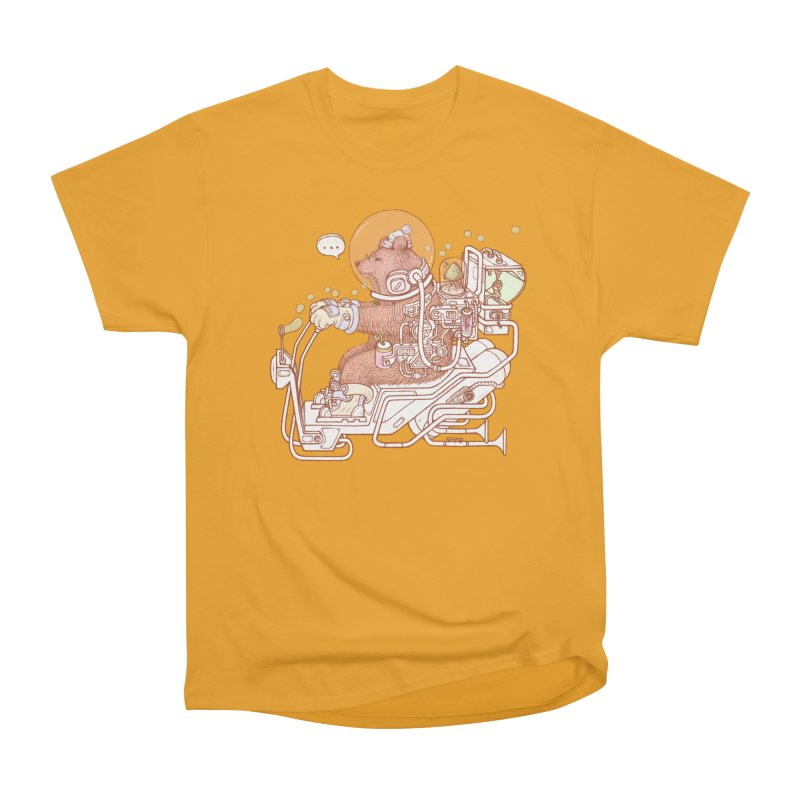 bear space suit Men's Heavyweight T-Shirt by makapa's Artist Shop