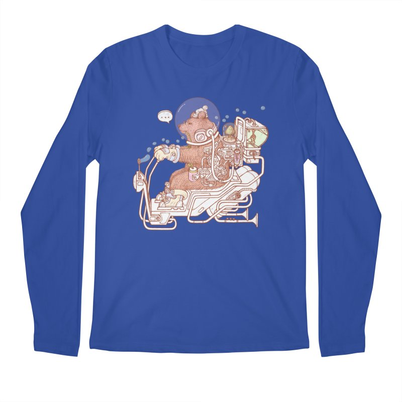 bear space suit Men's Regular Longsleeve T-Shirt by makapa's Artist Shop