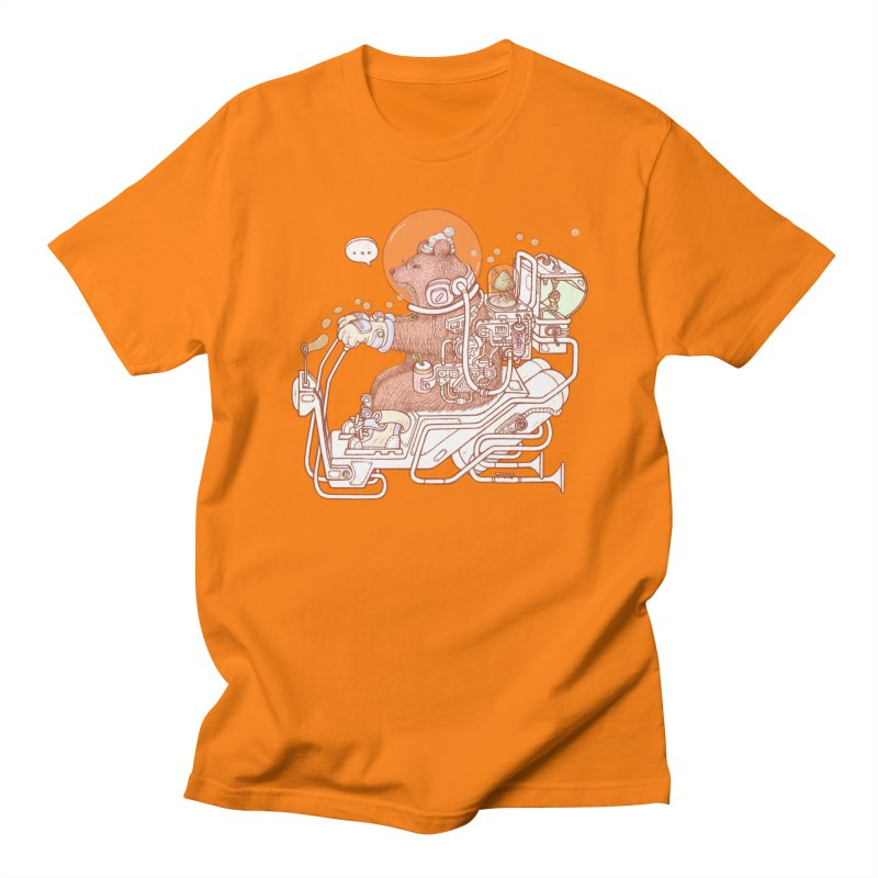 bear space suit Men's Regular T-Shirt by makapa's Artist Shop