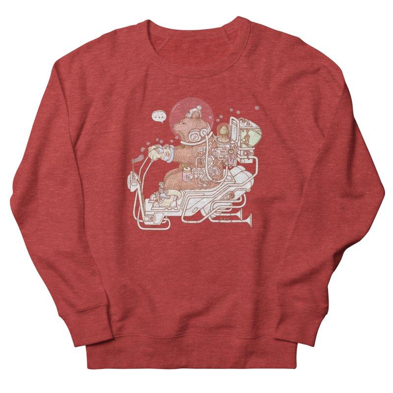 bear space suit Women's French Terry Sweatshirt by makapa's Artist Shop