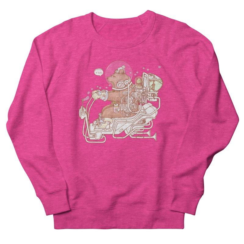 bear space suit Men's French Terry Sweatshirt by makapa's Artist Shop