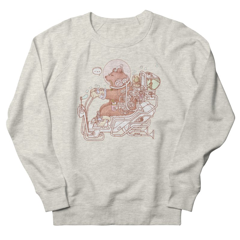bear space suit Men's French Terry Sweatshirt by makapa's Artist Shop