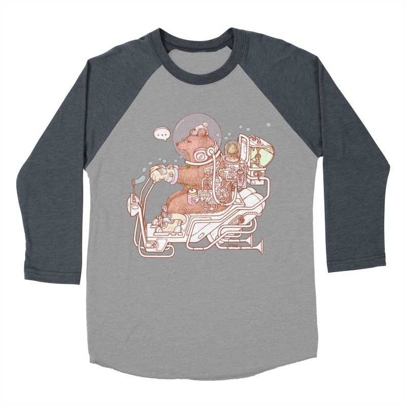 bear space suit Men's Baseball Triblend Longsleeve T-Shirt by makapa's Artist Shop